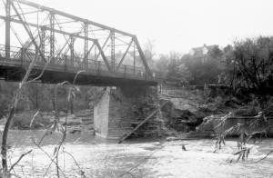 Old Dundas Street bridge after hazel