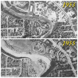 Raymore Drive before and after Hurricane Hazel