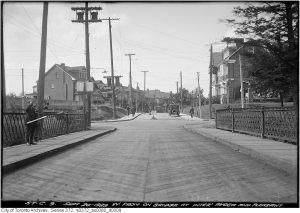 Construction photographs of St. Clair Avenue E. viaduct