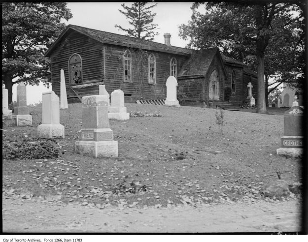 St. John's Anglican Norway, old church, close. - October 4, 1927