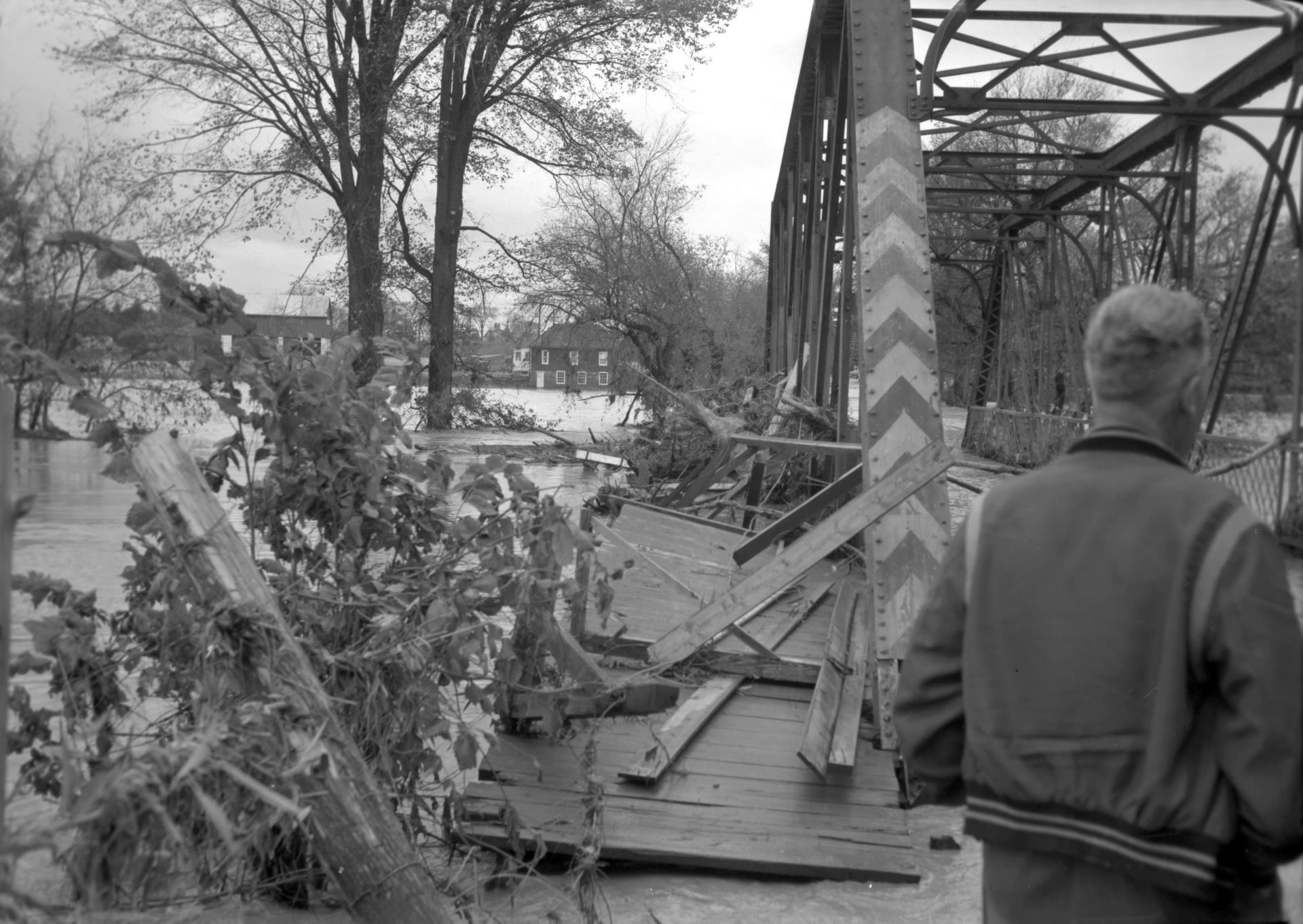 Albion Road Bridge Hurricane hazel